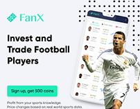 Blockchain football banner