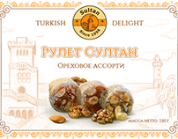 Sultan: Turkish delight package design