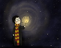 Harry Potter and Hermione Granger Light Illustrations