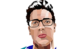 Vector self-portrait