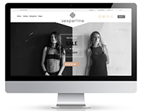 Vespertine knitwear - web design