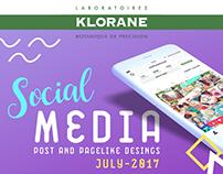 Klorane Cosmetics Social Media Designs