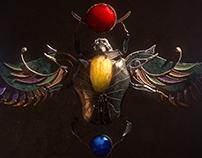 Egyptian scarab - version 2