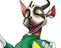 SA Rugby - Bokkie painted poses and style guide assets