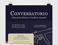 Afiche Conversatorio