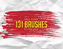 131 Hand Drawn Brushes - Free Vector Pack