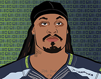 Pop Art Illustration of MarShawn Lynch - Seahawks