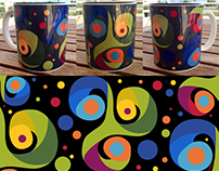 Minoan Swirl Mug [black]