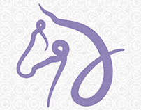 Calligraphy Style Horse Head Graphic