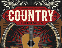 Country Concert Series Design