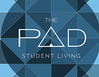 The Pad Student Living Logo Concept