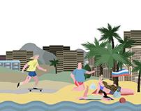 illustration for ASPHALT Skateboard Magazine