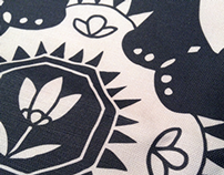 Hip/Folk Retro Lotus Pattern Design
