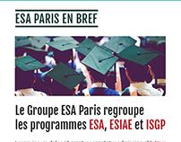 École ESA Paris website