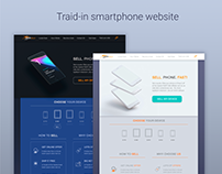Web traid-in smartphones, ecommerce, photoshop