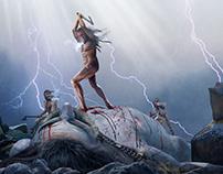 Norse mythology. Editorial Illustrations