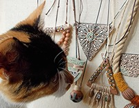 my cat Penny & jewelry :)
