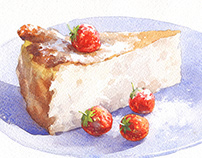 Cake & Strawberry