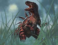 Dino in swamp