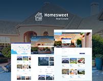 Homesweet - Real Estate Website