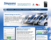 Simpsons Motor Caravans website
