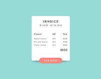 Invoice - #DailyUI #046