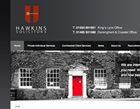 Hawkins Solicitors web design