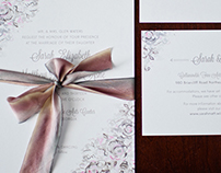 Sarah + Matt Wedding Stationery