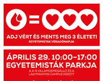 Blood donation event poster