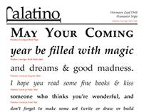 Palatino Logotype & Type Specimen Sheet