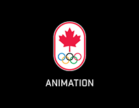 Canadian Olympic team - Animated social content