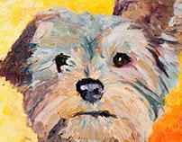 Custom Dog Oil Paintings