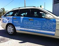 Publicidade Better Life - Taxi Advertising