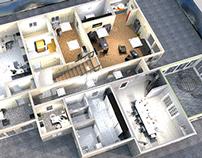 3D notranja ureditev - 3D Interior design