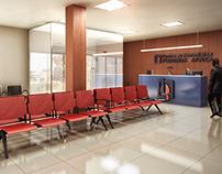 Centro de Hemodiálise - recepção (Angola)