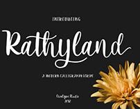 RATHYLAND SCRIPT - FREE FONT