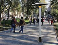 Cell phone charging kiosk