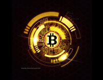Bitcoin abstract background ( crypto , currency )