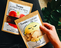 Dried fruits packaging stickers