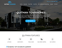 TOWNHOMES- Landing Page To Promote Real Estate Project
