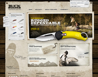 Buck Knives Site Redesign