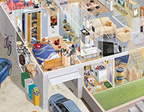 American Tract House cutaway | Stuart Jackson-Carter