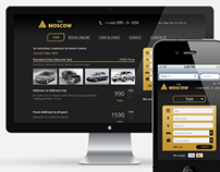TaxiMoscow — Redesign & mobile version