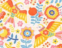 Bohemian Bay Textile Pattern Illustration
