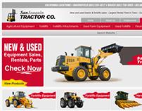 San Joaquin Tractor Homepage Design