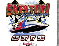 Skelton Racing T-Shirt Design