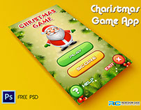 Christmas Game App PSD for Mobile UI