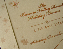 Barona Valley Ranch VIP Holiday Dinner Invite