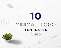 Cloud 10 Free Minimal Logo Templates PSD | AI