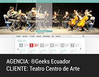 WEB DESIGN. Teatro Centro de Arte
